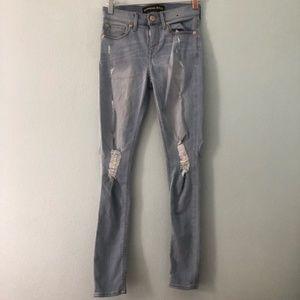 Express | light wash distressed skinny jean